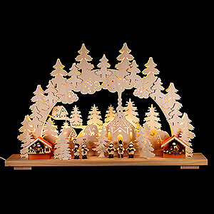 Candle Arches Fret Saw Work Candle Arch - Christmas Market - 70x42 cm / 28x17 inch