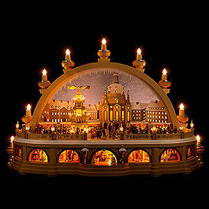 Candle Arches Illuminated inside Candle Arch - Christmas Market of Dresden - 2nd Limited Edition - 81x31x52 cm / 32x12x20 inch