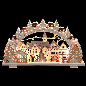 Candle Arches Fret Saw Work Candle Arch - Christmas Time Exclusive - 53x31x4,5 cm / 21x8x1.8 inch