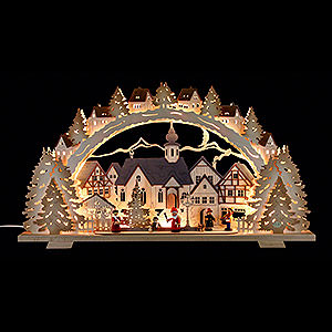 Candle Arches Fret Saw Work Candle Arch - Christmas Time Exclusive - 72x41x7 cm / 28.3x16.1x2.8 inch
