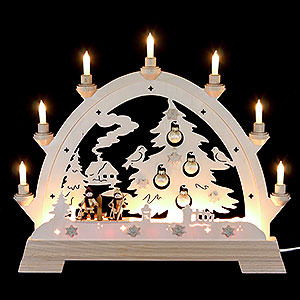Candle Arches Fret Saw Work Candle Arch - Christmas Tree - 40x43 cm / 16x16 inch