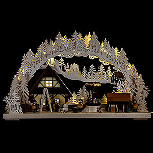 Candle Arches Fret Saw Work Candle Arch - Christmas time - 72x43 cm / 28.3x17 inch