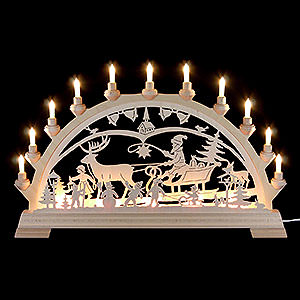 Candle Arches Fret Saw Work Candle Arch - Christmascountry - 65x40 cm/26x16 inch