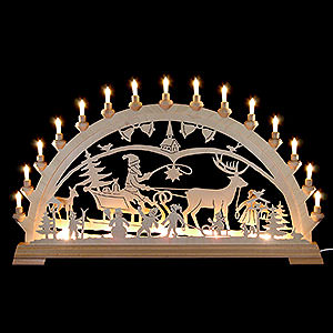 Candle Arches Fret Saw Work Candle Arch - Christmascountry - 84x49 cm/33x19 inch