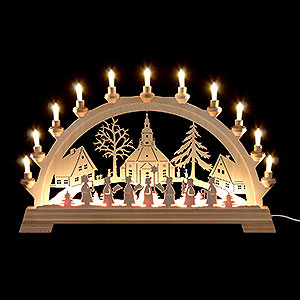 Candle Arches Fret Saw Work Candle Arch - Church of Seiffen - 65x40cm/26x16 inch