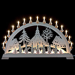Candle Arches Fret Saw Work Candle Arch - Church of Seiffen - 84x49 cm/33x19 inch