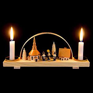 Candle Arches All Candle Arches Candle Arch Dorf Seiffen mit Kurrende - natur - 24x12 cm / 9.4x4.7 inch