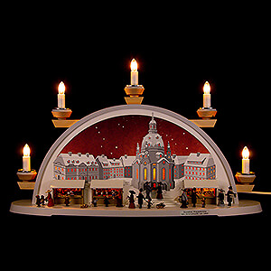 Candle Arches Illuminated inside Candle Arch - Dresden Christmas Market Approx. 1900 - 54x32x12 cm / 21x12.5x4.7 inch