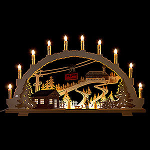 Candle Arches Illuminated inside Candle Arch - Fichtelberg - 70x42 cm / 27.6x16.5 inch
