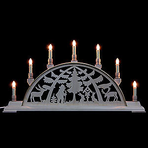 Candle Arches Fret Saw Work Candle Arch - Forest Scene - 63x32 cm / 25x13 inch