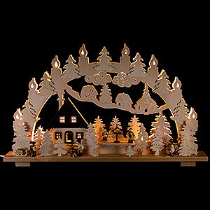 Candle Arches Fret Saw Work Candle Arch - Forest house - 70x43 cm / 28x17 inch