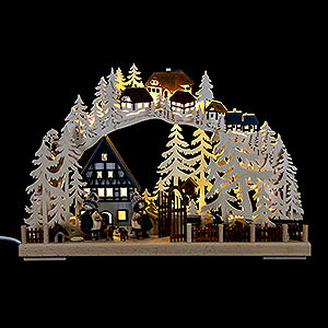 Candle Arches Fret Saw Work Candle Arch - Half Timber House Dreams - 43x30 cm / 17x11.8 inch