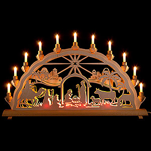 Candle Arches Fret Saw Work Candle Arch - Holy Night - 68x35 cm / 26.8x13.8 inch