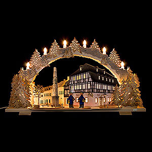 Candle Arches Fret Saw Work Candle Arch - Hotel zum Ross - 72x43 cm / 28.3x16.9 inch