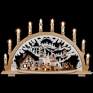 Candle Arches Fret Saw Work Candle Arch - Lumbermen - 67x42x15 cm / 26x16.5x6 inch