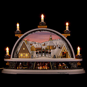 Candle Arches Illuminated inside Candle Arch - Mettenschicht - Limited by Klaus Kolbe - 57x40x12,5 cm / 22.5x15.5x5.0 inch