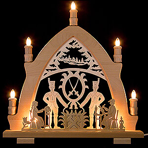 Candle Arches Fret Saw Work Candle Arch - Miner - 41x42 cm / 16.1x16.5 inch