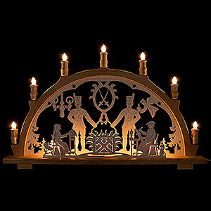Candle Arches Fret Saw Work Candle Arch - Miner - 66x41 cm / 26x16.1 inch