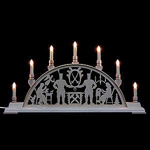 Candle Arches Fret Saw Work Candle Arch - Miners of the Erzgebirge - 63x32 cm / 25x13 inch