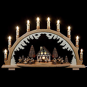 Candle Arches All Candle Arches Candle Arch - Musicians and Forest People - 67x42 cm / 26x17 inch