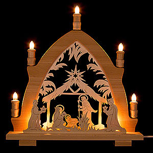 Candle Arches Fret Saw Work Candle Arch - Nativity - 41x42 cm / 16.1x16.5 inch