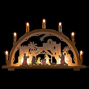 Candle Arches Fret Saw Work Candle Arch - Nativity - 66x41 cm / 26x16.1 inch