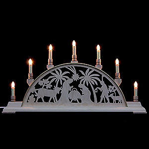 Candle Arches Fret Saw Work Candle Arch - Nativity Scene - 63x32 cm / 25x13 inch