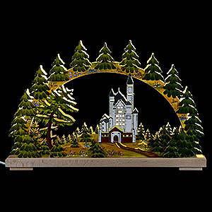 Candle Arches Fret Saw Work Candle Arch - New Swantone Castle, Summer Time - 43x30 cm / 17x12 inch