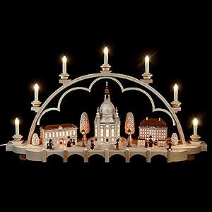 Candle Arches Illuminated inside Candle Arch - Old Dresden - 80 cm / 31 inch