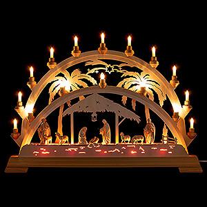 Candle Arches All Candle Arches Candle Arch - Palm Tree - Nativity with Shepherd - 73x53 cm / 28.7x20.9 inch