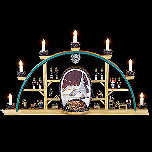 Candle Arches All Candle Arches Candle Arch - Scenes From the German Erzgebirge - 72x41 cm / 28x16 inch