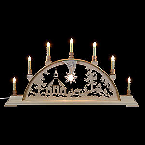 Candle Arches Fret Saw Work Candle Arch - Seiffen Church - 63x32 cm / 25x13 inch