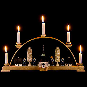 Candle Arches All Candle Arches Candle Arch - Seiffen Church with Carolers - 44x19,5 cm / 17x8 inch