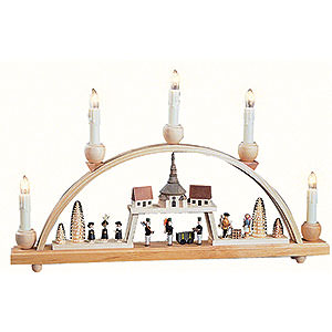 Candle Arch - Seiffen Village - 48x28 cm / 18.9x11 inch