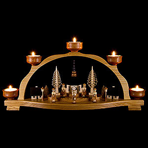 Candle Arches All Candle Arches Candle Arch - Seiffen Village and Carolers - 46,5x23 cm / 18x9 inch