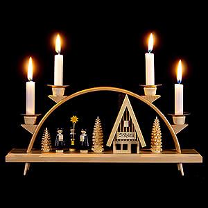 Candle Arches All Candle Arches Candle Arch - Ski Lodge with Carolers - 33x15 cm / 13x5.9 inch