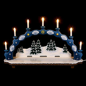 Small Figures & Ornaments Hubrig Winter Kids Candle Arch - Small Size - 75x18,5x47 cm / 30x7x19 inch