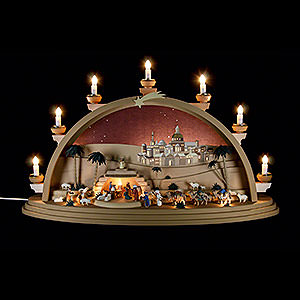 Candle Arches Illuminated inside Candle Arch - The Nativity - 75x42x20 cm / 29.5x16.5x7.8 inch