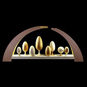 Candle Arches All Candle Arches Candle Arch - Turned Trees - 62x25 cm / 24.5x10 inch