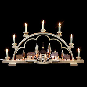 Candle Arches All Candle Arches Candle Arch - Village Seiffen - 64 cm / 25 inch - 120 V Electr. (US-Standard)