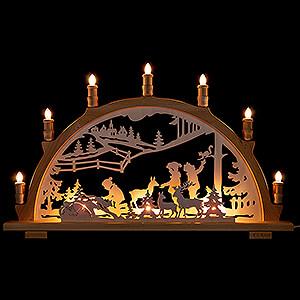 Candle Arches Fret Saw Work Candle Arch - Wildlife Feeding - 66x44 cm / 26x17.3 inch