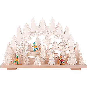 Candle Arches Fret Saw Work Candle Arch - Winter Fun - 50x31 cm / 19.7x12.2 inch