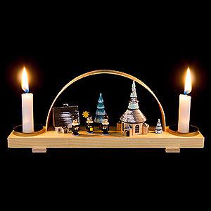 Candle Arches All Candle Arches Candle Arch Winter Village Seiffen with Carolers- 24x12 cm / 9.4x4.7 inch