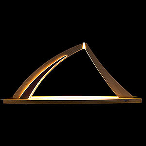 Candle Arches All Candle Arches Candle Arch - modern wood - NEW LINE Beech - without Figurines - 57x26 cm / 22.4x10.2 inch
