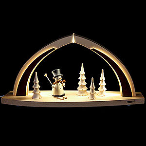 Candle Arches All Candle Arches Candle Arch - modern wood - Snowman - 41x20x9,5 cm / 16x8x3.7 inch