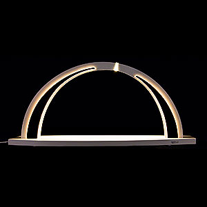 Candle Arches All Candle Arches Candle Arch - modern wood - WHITE LINE - without Figurines - 57x26 cm / 22.4x10.2 inch