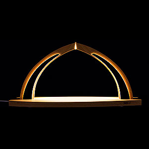 Candle Arches All Candle Arches Candle Arch - modern wood - without Figurines - 41x20 cm / 16.1x7.9 inch