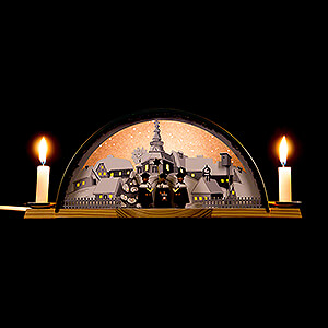 Candle Arches All Candle Arches Candle Arch with Carolers and Ore Arch - 33x14 cm / 13x5.5 inch