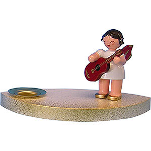 World of Light Candle Holder Angels Candle Holder - Angel with Guitar - 7 cm / 2.8 inch