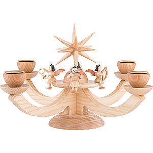 World of Light Advent Candlestick Candle Holder - Four Sitting Angels - 38x38x20 cm / 11x11x7.9 inch